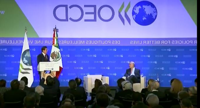 """MEXICO SE HA VOLVIDO""…DICE PEÑA NIETO EN DISCURSO ANTE LA OCDE EN PARIS (VIDEO)"