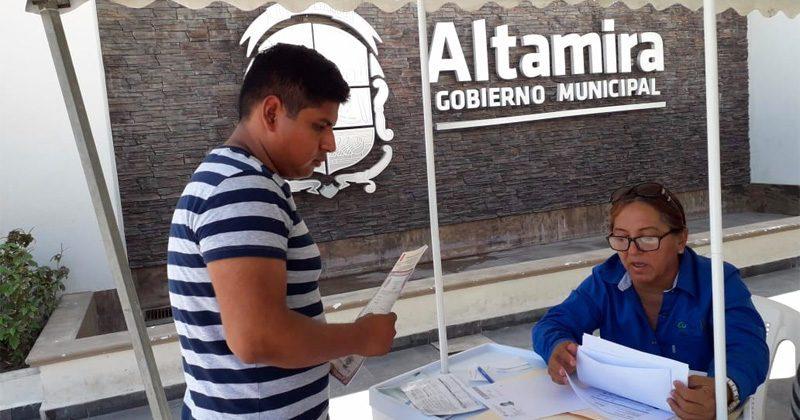 OFERTAN VACANTES PARA EL CEDES ALTAMIRA